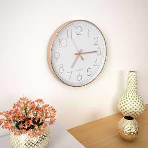 Ρολόι Τοίχου Ροζ Χρυσό 30 εκ.