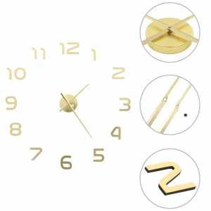 Ρολόι Τοίχου Τρισδιάστατο Μοντέρνο Χρυσό 100 εκ. XXL