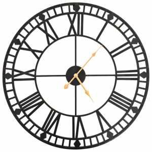 Ρολόι Τοίχου Vintage XXL 60 εκ. Μεταλλικό με Μηχανισμό Quartz
