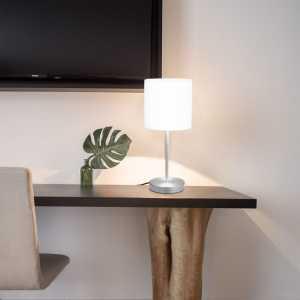Επιτραπέζια Φωτιστικά 2 τεμ. Λευκά Ε14 με Πλήκτρο Αφής