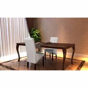 Καρέκλες Τραπεζαρίας 2 τεμ. Λευκές από Συνθετικό Δέρμα