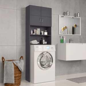 Ντουλάπι Πλυντηρίου Γκρι 64 x 25,5 x 190 εκ. από Μοριοσανίδα