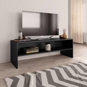 Έπιπλο Τηλεόρασης Μαύρο 120x40x40 εκ. από Μοριοσανίδα