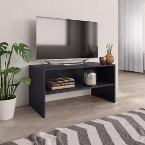 Έπιπλο Τηλεόρασης Γυαλιστερό Γκρι 80x40x40 εκ. από Μοριοσανίδα