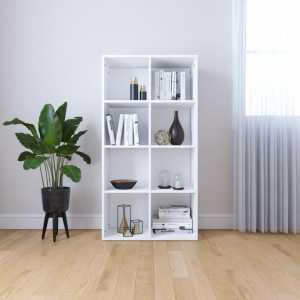 Ραφιέρα/Βιβλιοθήκη Λευκή 66 x 30 x 130 εκ. από Μοριοσανίδα