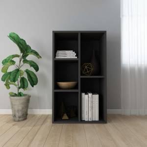 Ραφιέρα / Βιβλιοθήκη Μαύρη 50 x 25 x 80 εκ. από Μοριοσανίδα