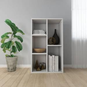 Ραφιέρα / Βιβλιοθήκη Γυαλιστερό Λευκό 50x25x80 εκ. Μοριοσανίδα