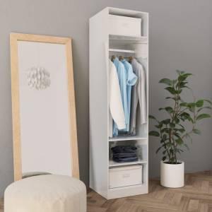 Ντουλάπα Γυαλιστερό Λευκό 50 x 50 x 200 εκ. από Μοριοσανίδα