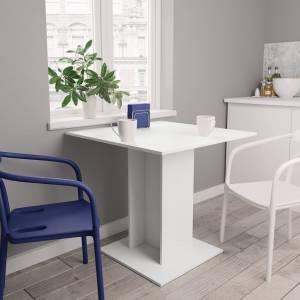 Τραπεζαρία Λευκή 80 x 80 x 75 εκ. από Μοριοσανίδα