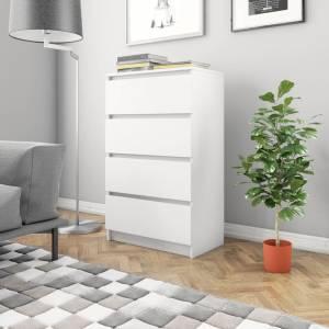 Συρταριέρα Λευκή 60 x 35 x 98,5 εκ. από Μοριοσανίδα