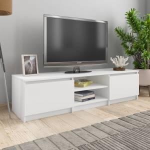 Έπιπλο Τηλεόρασης Λευκό 140 x 40 x 35,5 εκ. από Μοριοσανίδα