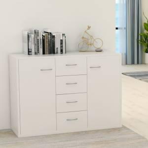 Μπουφές Λευκός 88 x 30 x 65 εκ. από Μοριοσανίδα