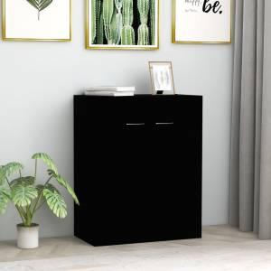 Ντουλάπι Μαύρο 60 x 30 x 75 εκ. από Μοριοσανίδα