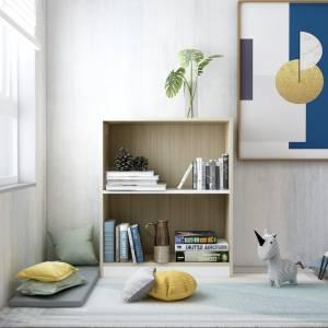 Βιβλιοθήκη Λευκό/Sonoma Δρυς 60 x 24 x 74,5 εκ. από Μοριοσανίδα