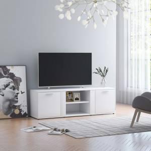 Έπιπλο Τηλεόρασης Λευκό 120 x 34 x 37 εκ. από Μοριοσανίδα