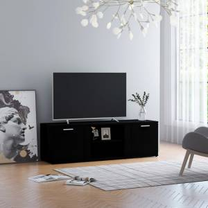 Έπιπλο Τηλεόρασης Μαύρο 120 x 34 x 37 εκ. από Μοριοσανίδα