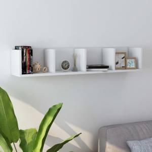 Ράφι Τοίχου για CD Λευκό 100 x 18 x 18 εκ. από Μοριοσανίδα