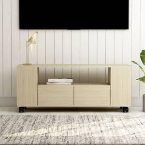 Έπιπλο Τηλεόρασης Sonoma Δρυς 120x35x43 εκ. από Μοριοσανίδα
