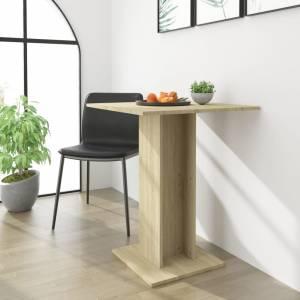 Τραπέζι Μπιστρό Χρώμα Sonoma Δρυς 60 x 60 x 75 εκ. Μοριοσανίδα