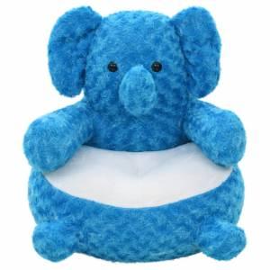 Ελέφαντας Λούτρινος Μαλακός Μπλε
