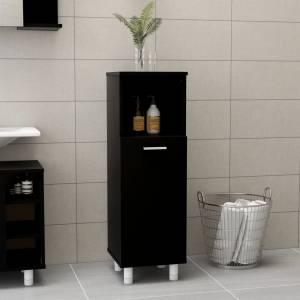 Στήλη Μπάνιου Μαύρη 30 x 30 x 95 εκ. από Μοριοσανίδα