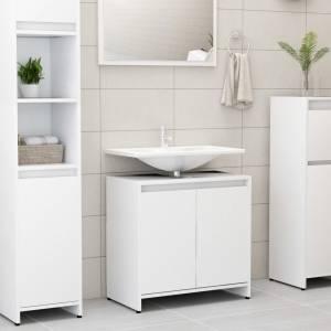 Ντουλάπι Νιπτήρα Λευκό 60 x 33 x 58 εκ. από Μοριοσανίδα