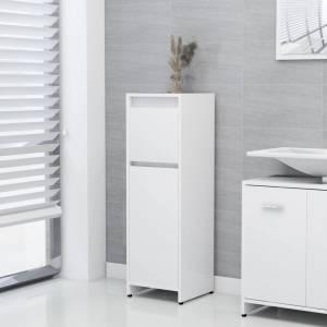 Στήλη Μπάνιου Λευκή 30 x 30 x 95 εκ. από Μοριοσανίδα
