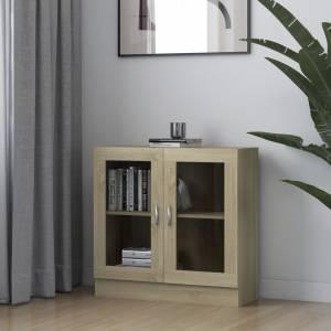 Βιτρίνα Χρώμα Sonoma Δρυς 82,5 x 30,5 x 80 εκ. Μοριοσανίδα