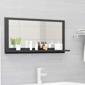 Καθρέφτης Μπάνιου Γκρι 80 x 10,5 x 37 εκ. Μοριοσανίδα