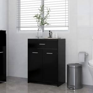 Ντουλάπι Μπάνιου Μαύρο 60 x 33 x 80 εκ. από Μοριοσανίδα