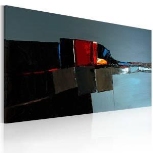 Χειροποίητα ζωγραφισμένος πίνακας - Abstract elephant 120x60
