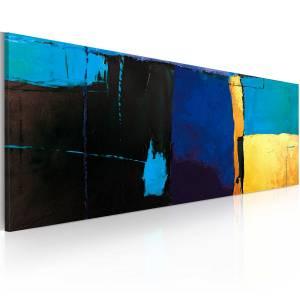 Χειροποίητα ζωγραφισμένος πίνακας - Fascination with the blue color 100x40