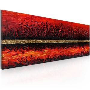 Χειροποίητα ζωγραφισμένος πίνακας - Volcano eruption 100x40