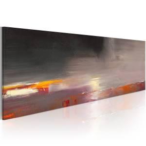 Χειροποίητα ζωγραφισμένος πίνακας - Foggy sea 100x40