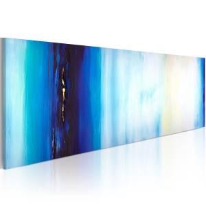 Χειροποίητα ζωγραφισμένος πίνακας - Blue liquid 100x40