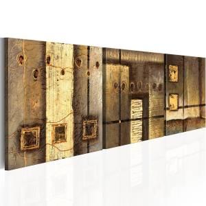 Χειροποίητα ζωγραφισμένος πίνακας - Gold composition 150x50