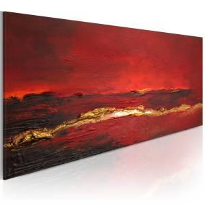 Χειροποίητα ζωγραφισμένος πίνακας - Redness of the ocean 100x40