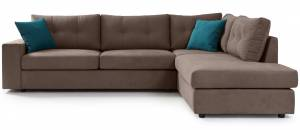Γωνιακός καναπές Hanson-Mocca-Δεξιά