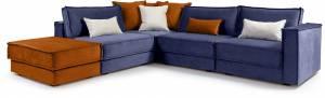 Γωνιακός καναπές Belinda-Mple Skouro