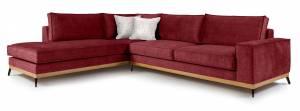 Γωνιακός καναπές Fredrik-Kokkino-Αριστερή