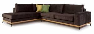 Γωνιακός καναπές Fredrik-Kafe Skouro-Αριστερή