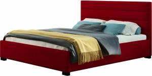 Επενδυμένο κρεβάτι Collex-Kokkino-140 x 200
