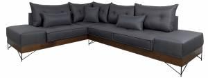 Γωνιακός καναπές KIng-Gkri Skouro-Δεξιά