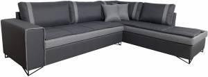 Γωνιακός καναπές Oscar-Gkri Skouro-Αριστερή