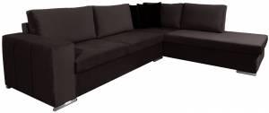Γωνιακός καναπές Stripe-Kafe Skouro-Αριστερή