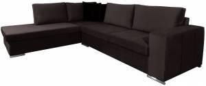 Γωνιακός καναπές Stripe-Kafe Skouro-Δεξιά