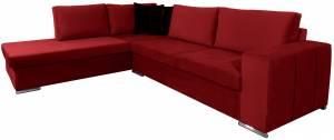 Γωνιακός καναπές Stripe-Kokkino-Δεξιά