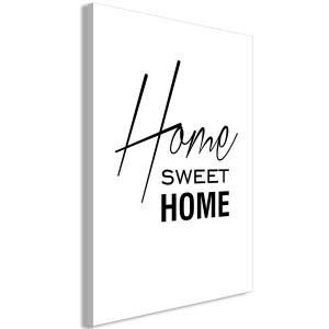 Πίνακας - Black and White: Home Sweet Home (1 Part) Vertical - 60x90