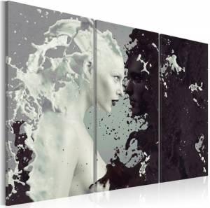 Πίνακας - Black or white? - triptych - 60x40