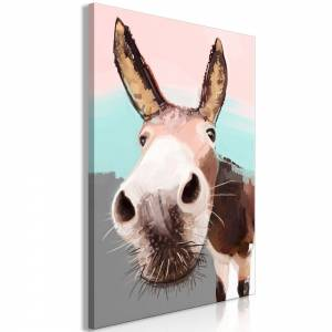 Πίνακας - Curious Donkey (1 Part) Vertical - 60x90